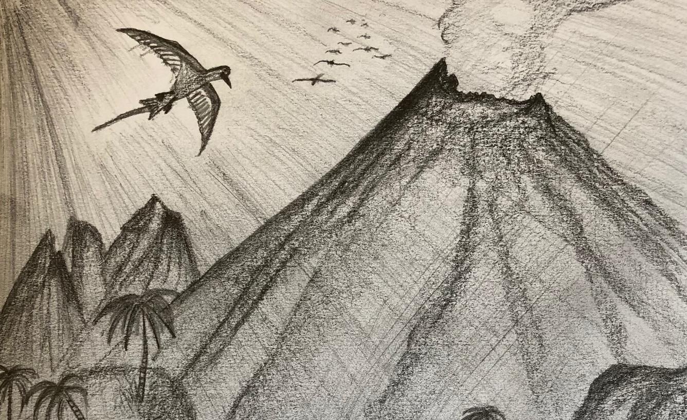 Dodo Adventures Tropic Scene Sketch